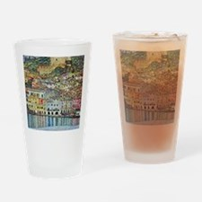 lake garda klimt Drinking Glass