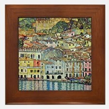 lake garda klimt Framed Tile
