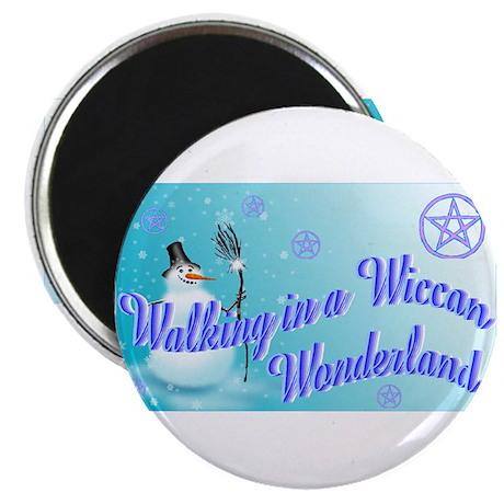 Wiccan Snowman wonderland Magnet