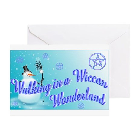 Wiccan Snowman wonderland Greeting Cards (Package