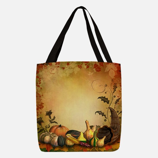 Thanksgiving Polyester Tote Bag