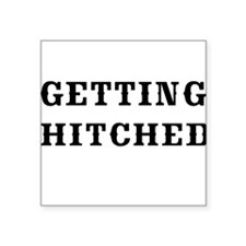 GETTING HITCHED-WESTERN 2 Sticker