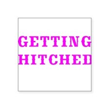 GETTING HITCHED-WESTERN 3 Sticker