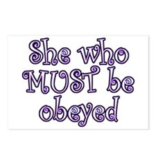 She Must Be Obeyed Postcards (Package of 8)