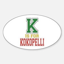 K is for Kokopelli Oval Decal