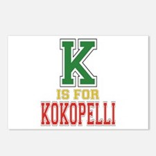 K is for Kokopelli Postcards (Package of 8)