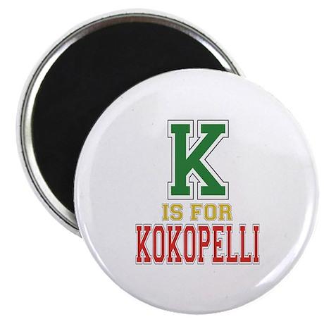 """K is for Kokopelli 2.25"""" Magnet (10 pack)"""