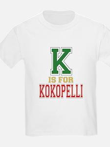 K is for Kokopelli Kids T-Shirt