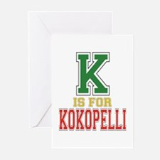 K is for Kokopelli Greeting Cards (Pk of 10)