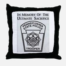Helping Pennsylvania State Police Throw Pillow