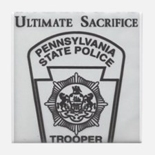 Helping Pennsylvania State Police Tile Coaster