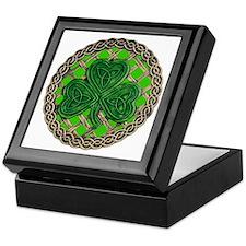 Shamrock And Celtic Knots Keepsake Box
