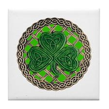 Shamrock And Celtic Knots Tile Coaster