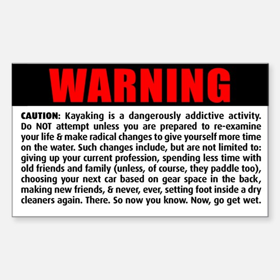 WARNING! Rectangle Bumper Stickers