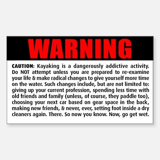 WARNING! Rectangle Decal