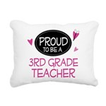 Proud 3rd Grade Teacher Rectangular Canvas Pillow