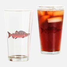 Pink Humpy Male salmon f Drinking Glass