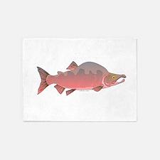 Pink Humpy Male salmon f 5'x7'Area Rug
