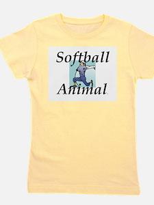 Softball Animal Girl's Tee