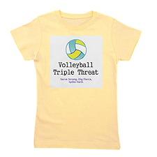 TOP Volleyball Slogan Girl's Tee