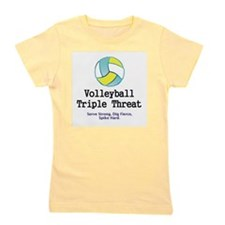 Volleyball Slogan Girl's Tee