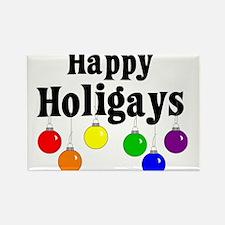 Happy Holigays Rectangle Magnet