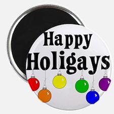 """Happy Holigays 2.25"""" Magnet (10 pack)"""
