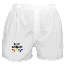 Happy Holigays Boxer Shorts