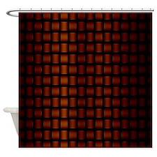 Copper Basketweave Shower Curtain