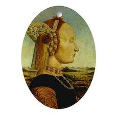 Duchess of Urbino, della Francesca Ornament (Oval)