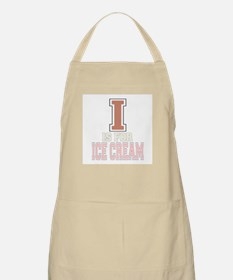 I is for Ice Cream BBQ Apron