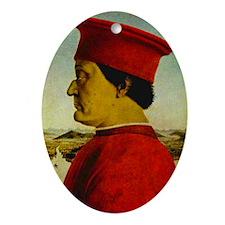 Duke of Urbino, della Francesca Ornament (Oval)