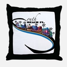 south beach Throw Pillow