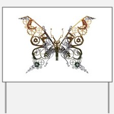 Industrial Butterfly Yard Sign