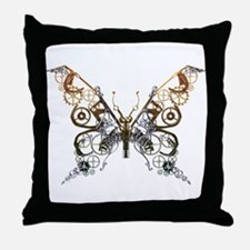 Industrial Butterfly Throw Pillow