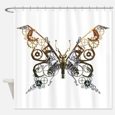 Industrial Butterfly Shower Curtain