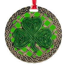 Shamrock And Celtic Knots Ornament