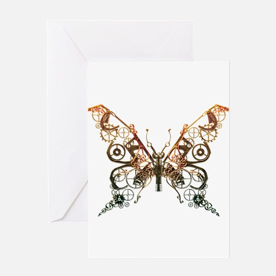 Industrial Butterfly (Copper) Greeting Card