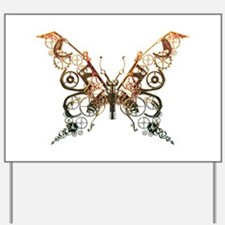 Industrial Butterfly (Copper) Yard Sign