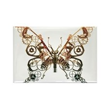 Industrial Butterfly (Copper) Rectangle Magnet