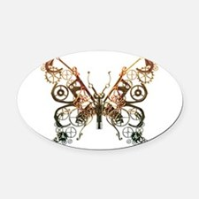 Industrial Butterfly (Copper) Oval Car Magnet