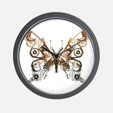 Industrial Butterfly (Copper) Wall Clock