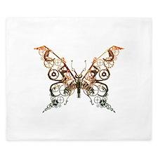 Industrial Butterfly (Copper) King Duvet