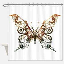 Industrial Butterfly (Copper) Shower Curtain