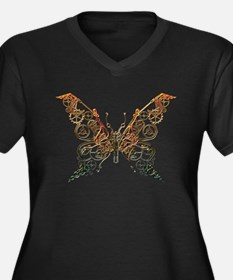 Industrial Butterfly (Copper) Plus Size T-Shirt