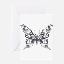 Silver Industrial Butterfly Greeting Card
