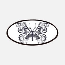 Silver Industrial Butterfly Patches