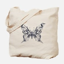 Silver Industrial Butterfly Tote Bag