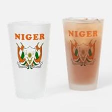 Niger Coat Of Arms Designs Drinking Glass