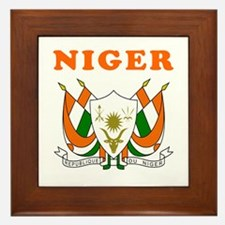 Niger Coat Of Arms Designs Framed Tile